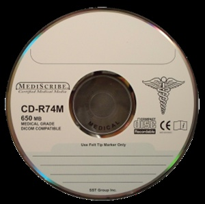 TDK CD-R 80 min, MEDICAL Grade, 700MB, Silver Thermal Printable from Am-Dig