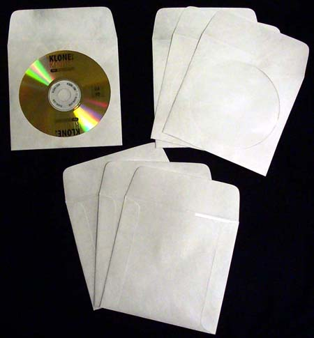 CD/DVD White Sleeve - Tyvek with Flap & Window from Am-Dig