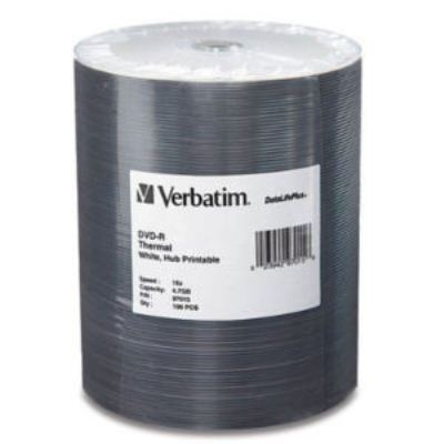 Verbatim 97019: CD-R 700MB 52x Whte Inkjet 100pk  from Am-Dig