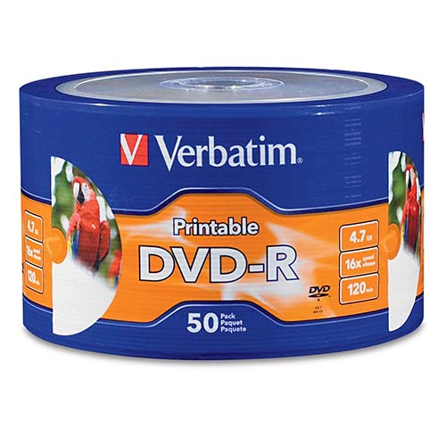 Verbatim 97167: DVD-R 16x White Inkjet Printable from Am-Dig