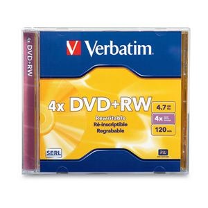 Verbatim 94520 DVD+RW 4.7GB 4x In Jewel Case from Am-Dig