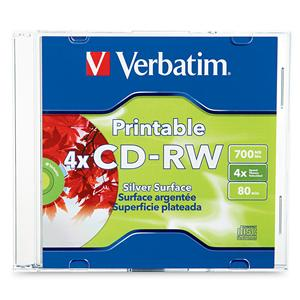 You may also be interested in the Verbatim 94935 CD-R 700MB 52X Logo 10pk Slim Case.