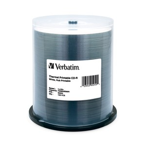 Verbatim 95254 CD-R 700MB 52x White Thermal 100pk