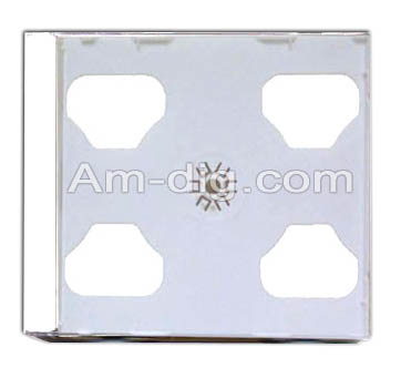 CD Jewel Case - White Single 10mm Assembled from Am-Dig